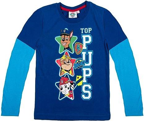 La Pat Patrouille T-Shirt Manches Longues doubl/ées Enfant Bleu de 3 /à 8ans