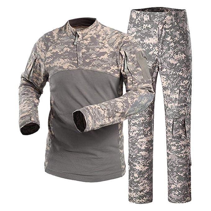 JUNSHIFU Uniformes tácticos Hombres Ropa Militar Camuflaje ...