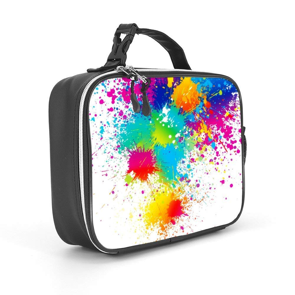 Spacious Insulated Lunch Bag Durable Thermal Lunch Cooler Pack for Boys Men Women Girls Adults Funny Sunglsses Cool Doge Lunch Box with Padded Liner