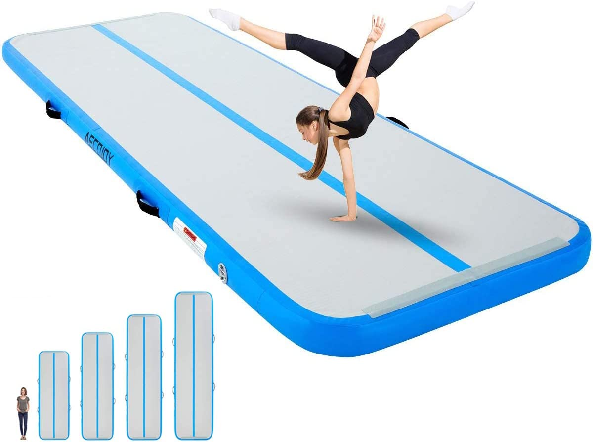 Gifts for Children Gym Sailnovo Inflatable Gymnastics Mat Training Tumbling Mat with Electric Pump,20//16//13//10ft,4//8in Thickness for Home Use Yoga Beach Air Track Cheerleading