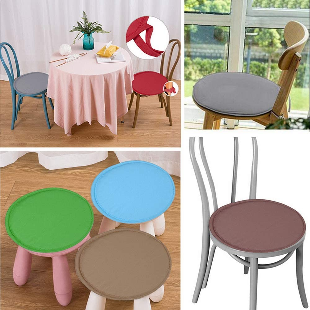Indoor//Outdoor Seat Cushions Round Bar Stool Cushion Solid Chair Pad papasgix Chair Pad