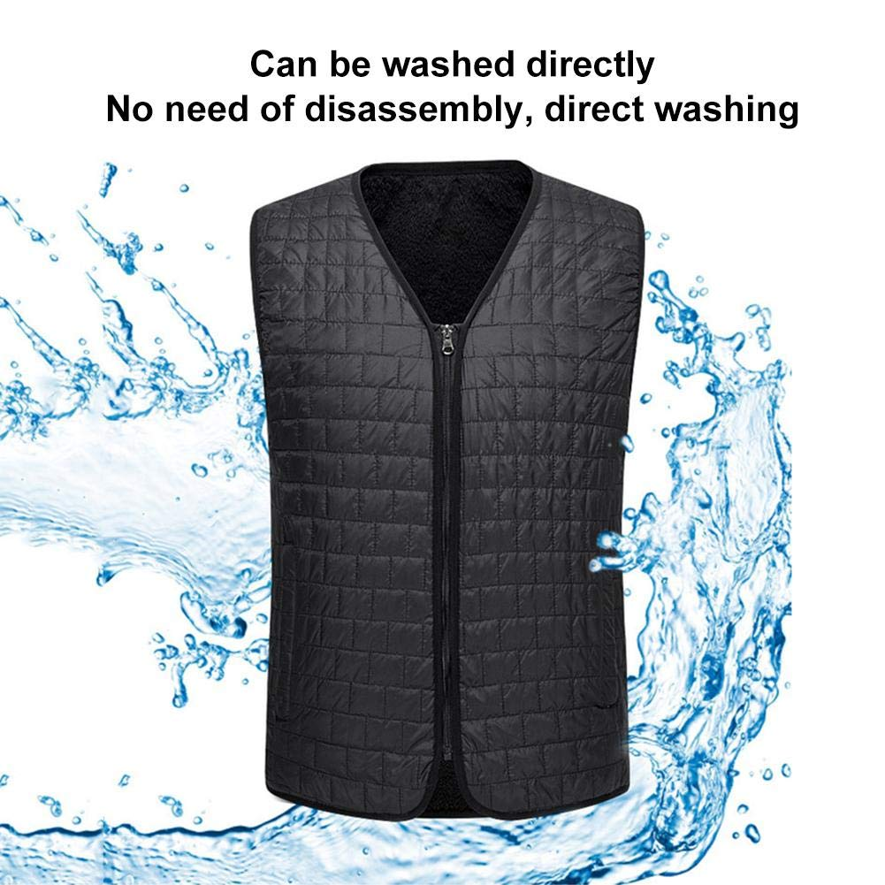 Shengruhua 2019 Newest USB Electric Heated Vest,Three-Level Temperature Rechargeable Heated Clothing for Winter Skiing Hiking Motorcycle Fishing Camping and More for Men or Woman Handy
