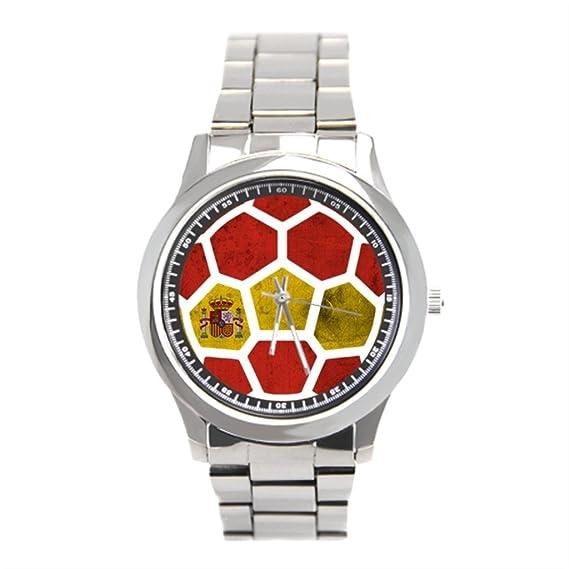 blue5 reloj de acero inoxidable relojes de pulsera, mejor fútbol España Copa del Mundo: Amazon.es: Relojes
