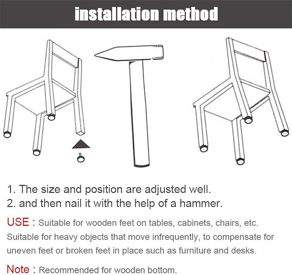 52 PCS 18//20//25//28//30 mm Heavy Duty Nail-on Anti-Sliding Felt Pad for Furniture Chair Table Leg Feet Floor Protectors