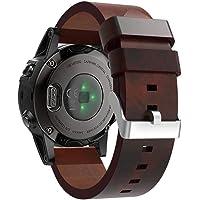 Bandas para Garmin Fenix 5S Plus-Becoler Correa de Reloj de Cuero Repuesto Pulseras de Accesorios Pulsera para Garmin Fenix 5S Plus
