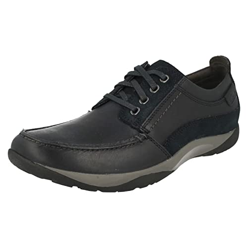 Hombre ROUTE WALK WALK ROUTE Clarks Navy leather lace up Zapatos  by CLARKS   G FIT   £44.99 2ffd58