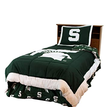michigan state reversible comforter set queen by college covers