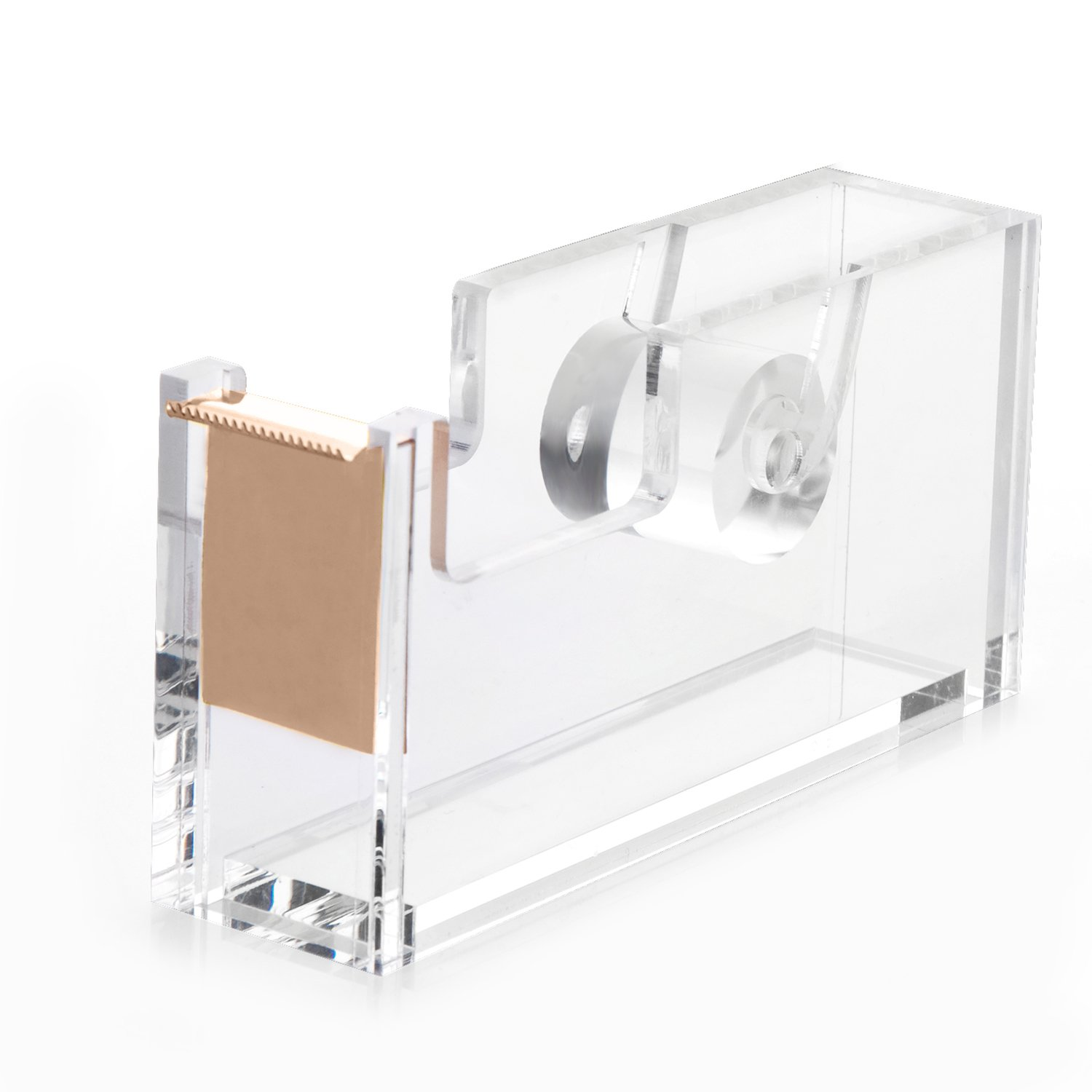 HBlife Acrylic Gold Tape Dispenser (4.7 x 1.3 x 2.4 inches), Modern Design Office Desk Accessory