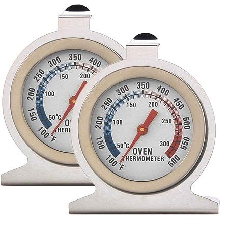 Termómetro de cocina para horno, paquete de 2 termómetros de acero ...