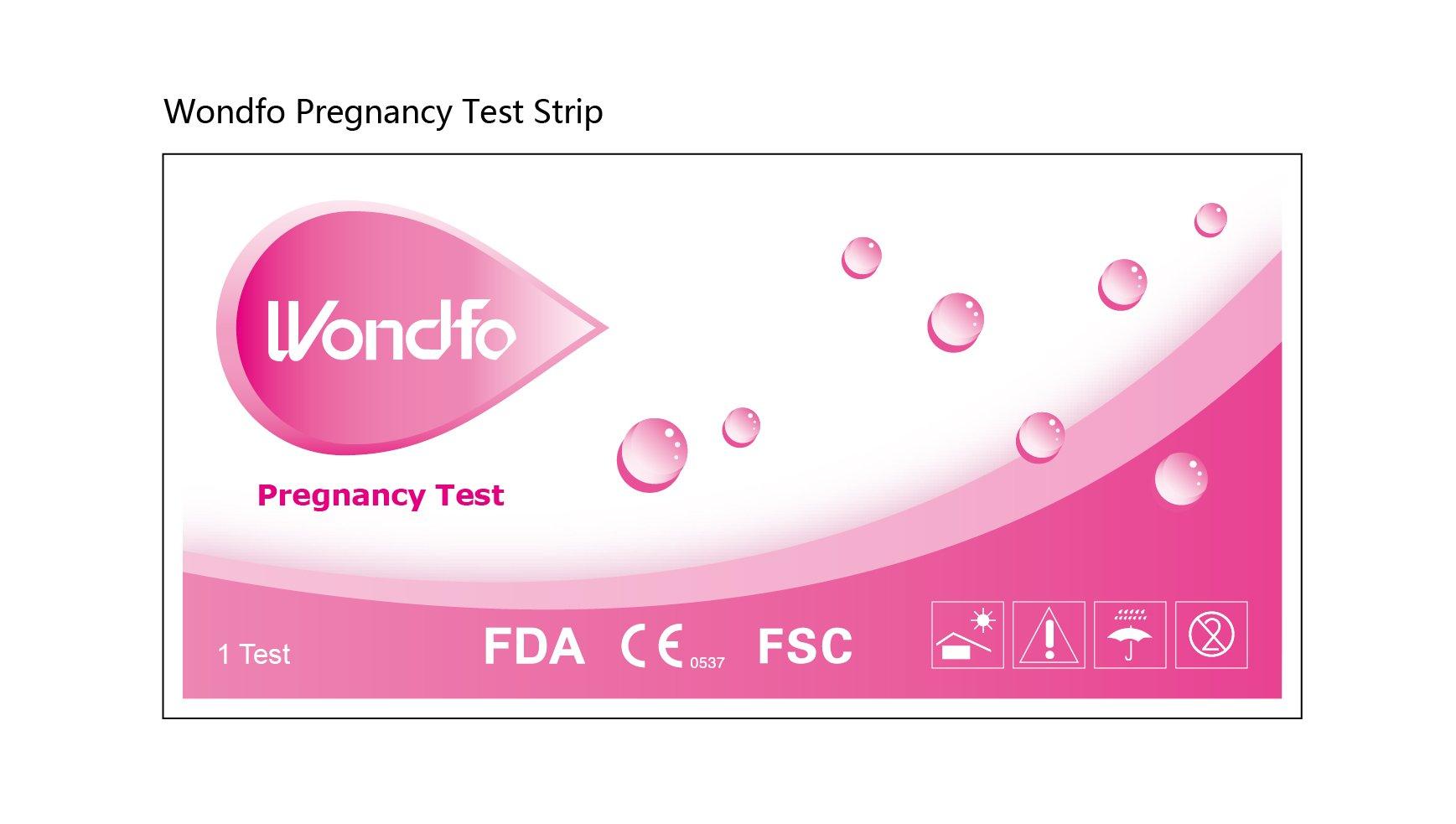 Wondfo HCG Pregnancy Test Strips-100 Count