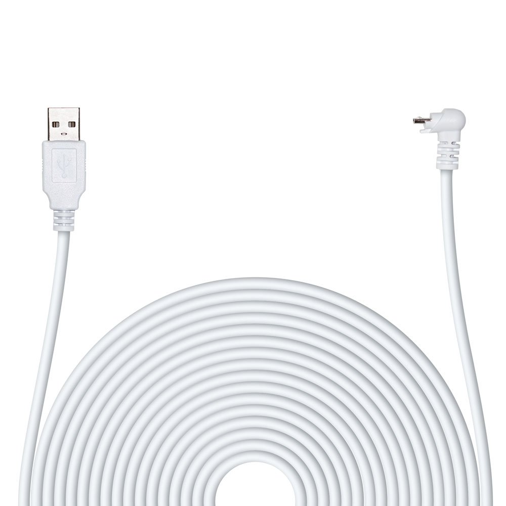 POPMAS Arlo Pro Charging Cable Weather Resistance Indoor/Outdoor Quick Charge USB 2.0 Adapter,20 Ft Extra Long 45mm Thickness Cable Arlo Pro, Arlo Pro 2 Home Security Camera White