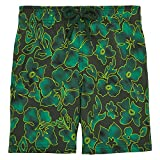 Vilebrequin Natural Flowers Superflex Superflex Swim Shorts - Boys - olive - 4Yrs