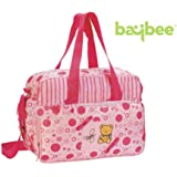 Baybee Premium Quality Baby Nappie Diaper Changing Bag - Feeding Accessories Mother Bag ( Pink )