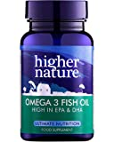 Higher Nature 1000mg Omega 3 Fish Oil - Pack of 90 Capsules