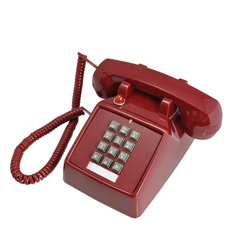 LCM Fixed Telephone Landline Home Office Telephone Office Caller ID Home Fashion Landline Corded Phone Office Desk, Old-Fashioned American Style Retro Nostalgic Ideas by LCM
