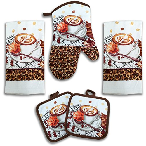 kitchen towel sets coffee - 9