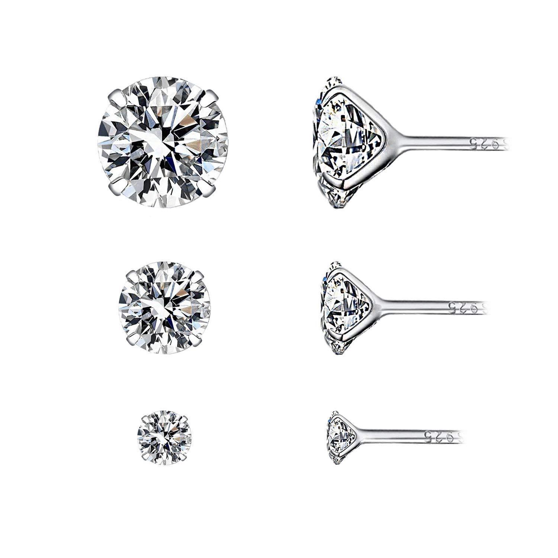 c106095aa4b4 YOURDORA 3 Pares Plata de Ley 925 Pendientes Tous Mujer con Cristal de  Swarovski Sencillo Joyer í a Elegante ...