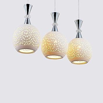 DGDH Las lámparas de cerámica Blancas Simples Dormitorio ...
