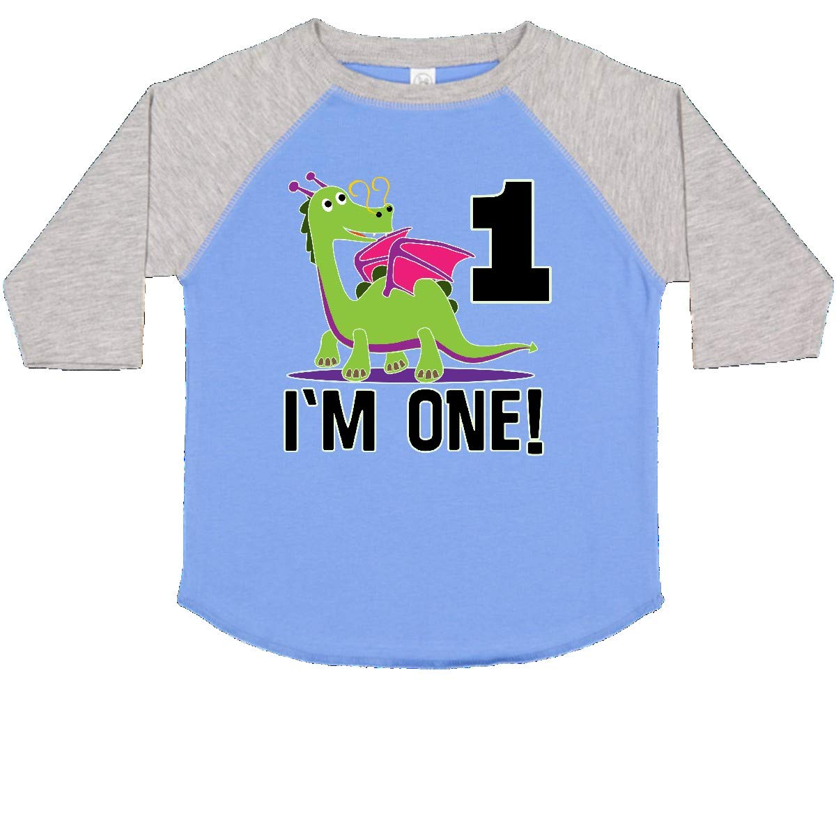 inktastic First Birthday Outfit Girl Dragon Toddler T-Shirt