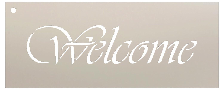 73a31fafa1b3c Amazon.com  Welcome Stencil by StudioR12