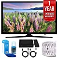 "Samsung UN49J5000 - Flat 49"" LED HD 5 Series Smart TV (2017 Model) with 1 Year Extended Warranty + Accessories Bundle"
