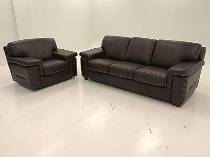 Tremendous Amazon Com Sofa And Swivel Chair Brown Leather Kitchen Spiritservingveterans Wood Chair Design Ideas Spiritservingveteransorg