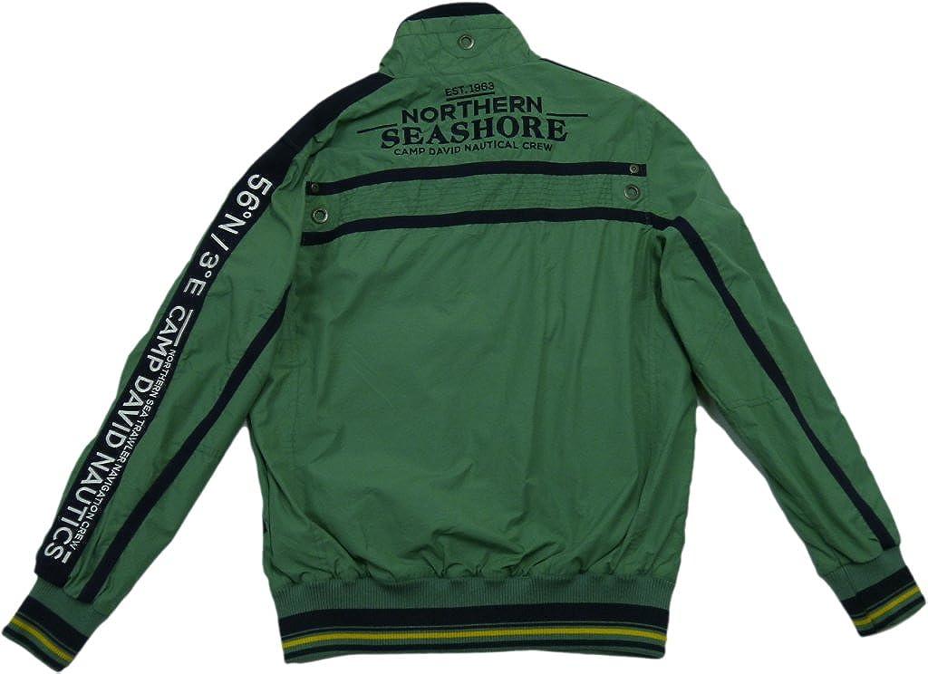 best sneakers sale uk buying cheap Camp David Men's Jacket Green grün, Blau, weiß + Gelb Medium ...