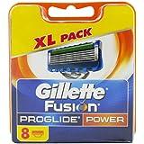 Gillette Fusion5 Proglide Power Rakblad för Män, Paket med 8