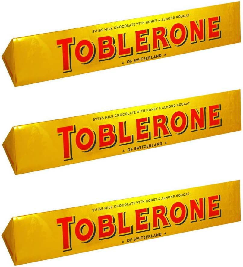 Toblerone Bar Milk 360g (Paquete de 3)