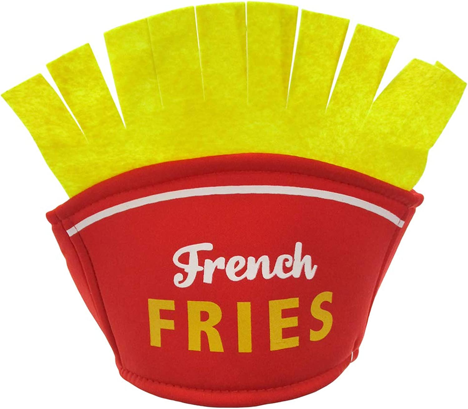 Nicky Bigs Novelties French Fries Food Hat French Fry Costume, Red and Yellow, One Size