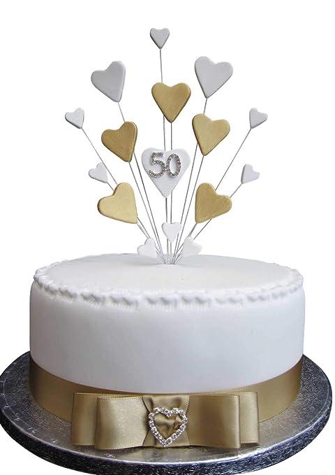 Decoración para tarta de 50 cumpleaños o aniversario, ideal ...