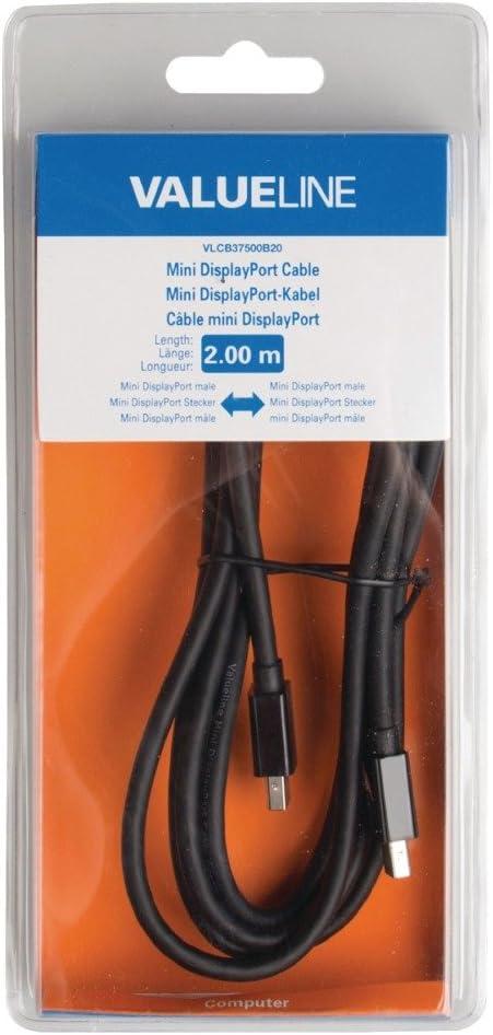 Mini DisplayPort Male 2.00 m Black Mini DisplayPort Cable Mini DisplayPort Male