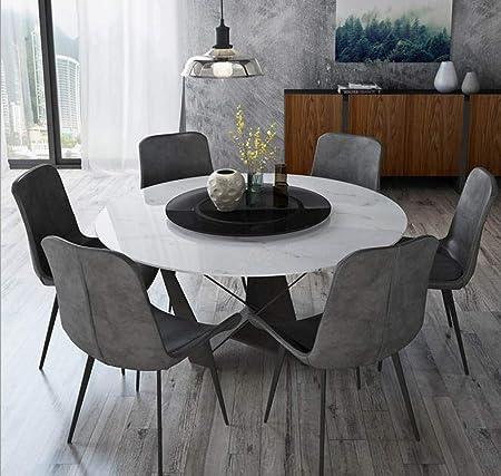 LGFSG Conjunto de Mesa Juego de Comedor de Madera Maciza Muebles para el hogar Mesa de Comedor de mármol Moderna Minimalista y 6 sillas, Blanco: Amazon.es: Hogar