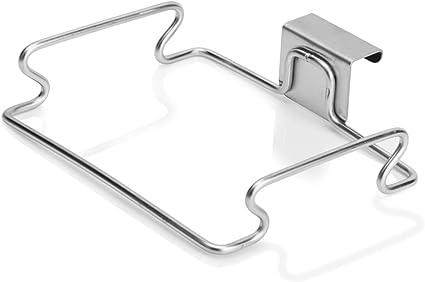 TAZEMAT Soporte para Bolsa de Basura Contenedor Simple para Reciclaje de Basura Colgar en Cajón Puerta de Armario Soporte Colgante de Acero Inoxidable ...