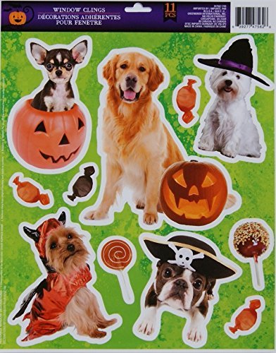 Halloween Window Clings - Spooky Dogs - 11 Piece