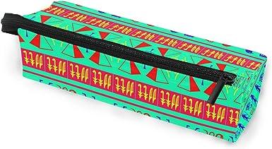 My Little Nest Eyeglass Sunglasses Holder Pouch Bag Colorful Egypt Symbols Multi Function Zipper Pen Case Pencil Bag Organizer