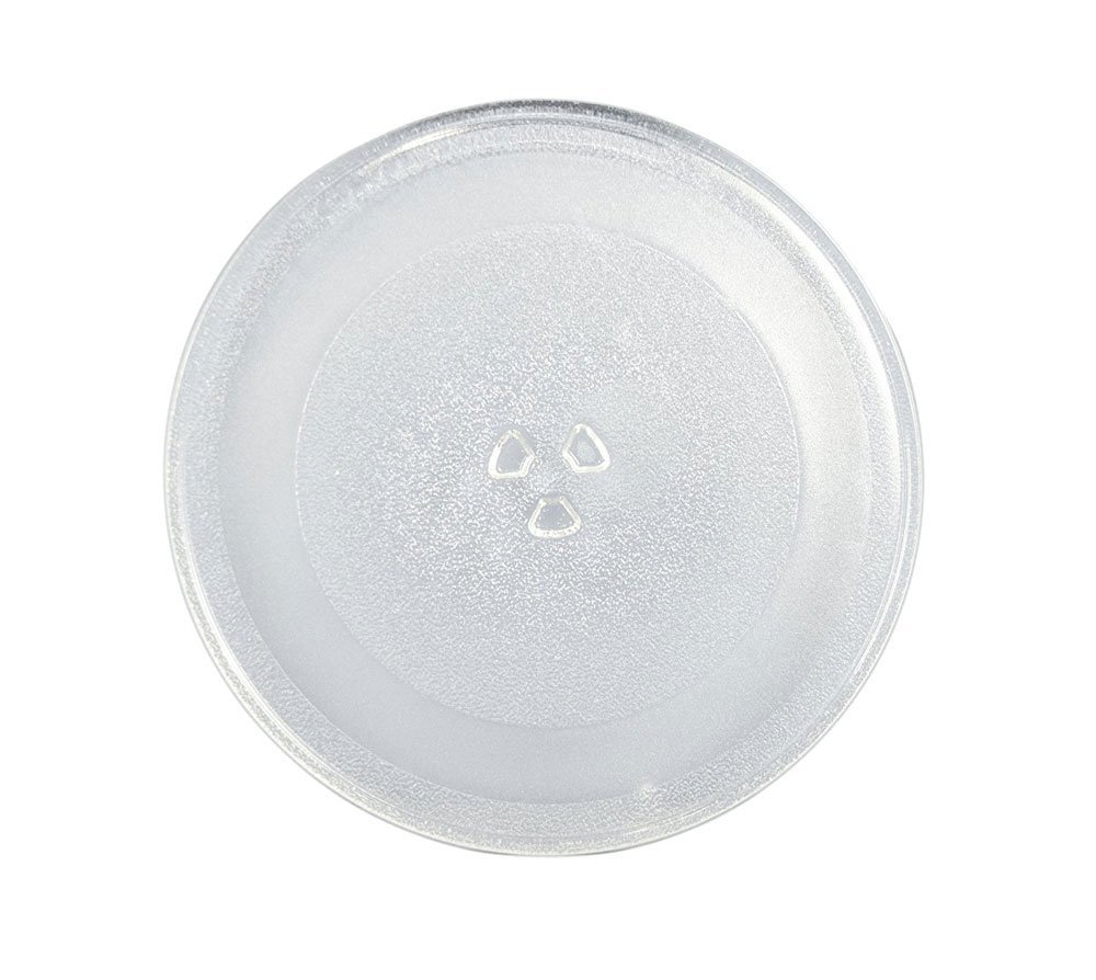 Supco MW014A Microwave Glass Turntable Cook Tray, 12.7 x 12.5 x 1 Inch, Replaces W10337247, 3390W1G014A