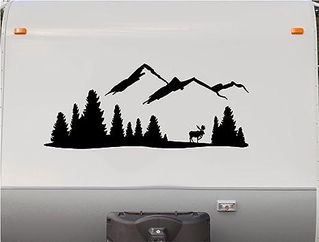 Mountains motorhome stripe kit deer rv stickers trailer stickers camper vinyl decal