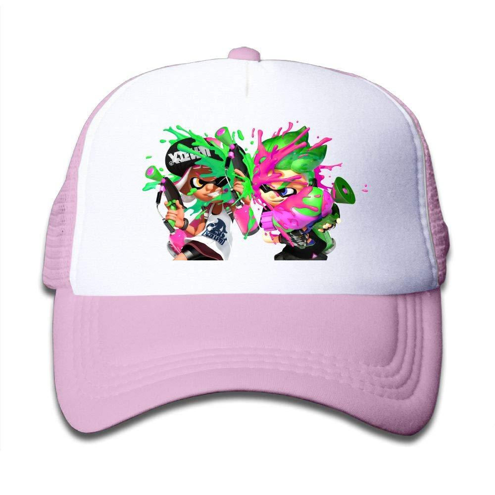 Splatoon Game Modes Youth Boys Mesh Hat Fashion Child Mesh Hat One Size