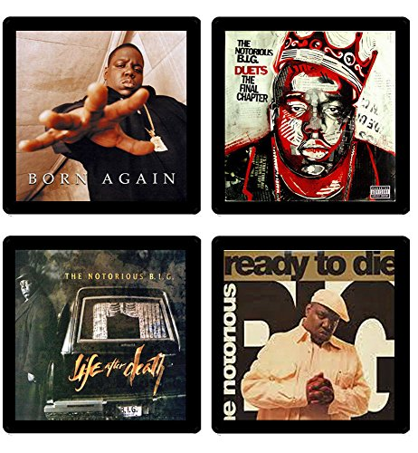 (Notorious Big - Collectible Coaster Gift Set #1 ~ (4) Different Album Covers Reproduced on Soft Pliable Coasters)