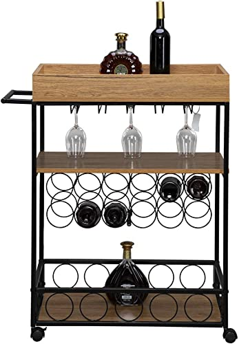 kingwolfox Bar Cart on Wheel