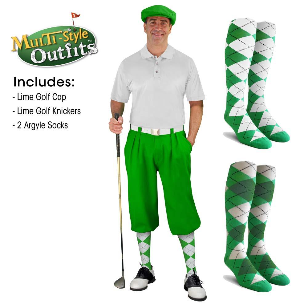 ゴルフKnickers – Outfit – Matching Outfit Knickersとキャップ Matching – 2つover-the-calfゴルフソックス – メンズ – ライム B07C9HZPPY ライムグリーン 56, 大きいサイズの店ビッグエムワン:29de7871 --- imagenesgraciosas.xyz