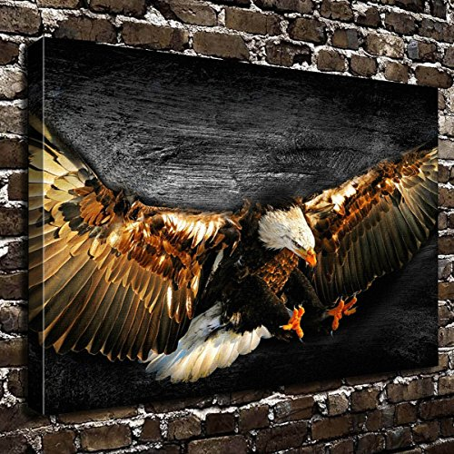 COLORSFORU Wall Art Painting Bald Eagle Prints On Canvas The Picture Landscape Pictures Oil For Home Modern Decoration Print Decor For Living ()