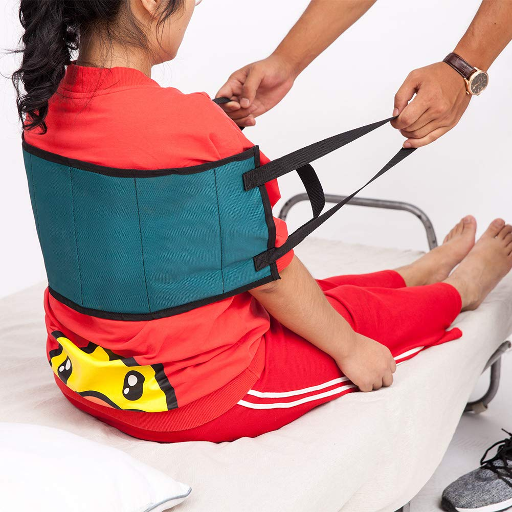 Padded Non-Slip Transfer Belt, Stand Assist Buttock Medical Strap, Patience Safety Transition Band Provides Guaranteed Safer Transfer from Lifting, Car, Wheelchair and Bed by Hersent