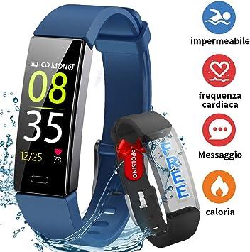 HOFIT Fitness Tracker,Orologio Braccialetto Smartwatch Activity Tracker Impermeabile IP68,Pressione Sanguigna Cardiofrequenzimetro,Contapassi