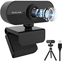 Webcam with Microphone, Full HD 1080P Webcam for PC, Laptop, Desktop, MAC, Plug and Play Web Camera with Privacy Cover…