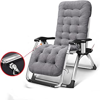 Lawn Chairs Reclining with Cup Holders and Cushions for Heavy People Zero Gravity Outdoor Beach Camping Portable Chair, 400kg
