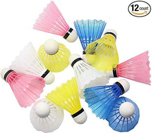 Shuttlecocks Badminton Sports Parts Outdoor Gym Plastic 12pcs Indoor Team Game