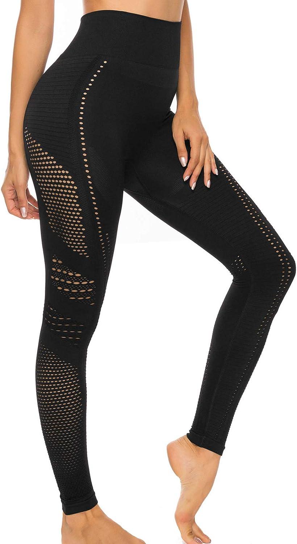 FITTOO Conjunto Tops Yoga Pantalon Deportivo Leggings Sin Costuras Mujer Alta Cintura Yoga Elásticos Fitness Seamless