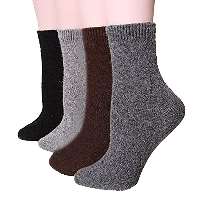 Possec Calcetines calientes del equipo de los calcetines calientes del invierno de la lana de los